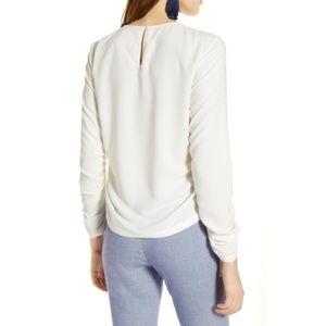 Halogen Tops - Halogen Cinched Sleeve Blouse